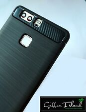 Huawei P9 case -brushed slim 360 protection w/ free p9 glass screen protector