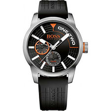 Hugo Boss Orange Black Silicone Quartz Analog Men's Watch HB 1513305