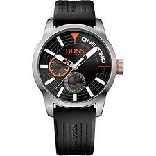 Hugo Boss Orange Black Silicone Quartz Analog Men's Watch HB 1513305