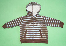 Timberland brown blue stripe hoodie jumper for boy 6-9 months