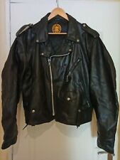 VINTAGE PERFECTO SCHOTT 615 BLACK LEATHER SIZE 48 (XL)