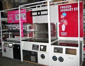 Frozen Yoghurt Eis Station Eisvitrine Eistheke Eiswagen