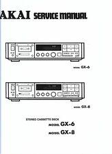 Akai  service manual  für model model GX-6 / 8 Copy
