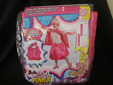 BARBIE PRINCESS POWER DRESS UP COSTUME With Arm Bands SIZE SMALL 3-5yrs  NEW