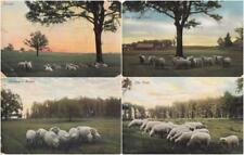 More details for set x4 - sunset, the village green, homeward bound, the flock - early 20th cent.