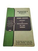 Original John Deere Manual Bedders or Middlebreakers No. 300 Series OM-A21-752