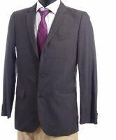 HUGO BOSS Red Sakko Jacket Amaro Gr.48 grau gestreift Einreiher 2-Knopf -S161