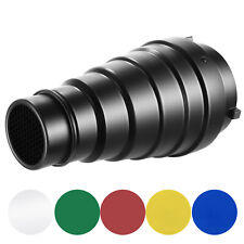 Neewer Medium Conical Snoot Kit with Honeycomb Grid & 5 Pieces Color Gel Filter