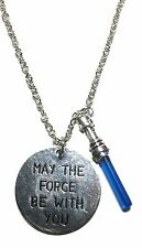 "Star Wars Light Side "" May The Force Be With You "" Charm Necklace with 20"" Chain"