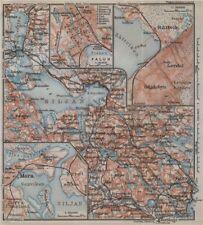 LAKE SILJAN REGION. Rättvik Falun Mora town plans. Sweden karta 1912 old map