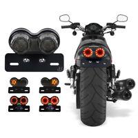 Motorrad Bremslicht LED-Rücklicht Kennzeichnenleuchte für Harley Chopper Bobber