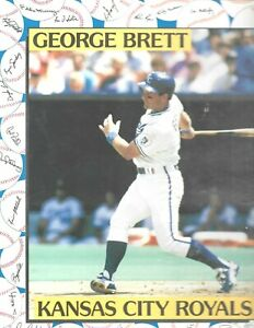 Vintage 1991 Kansas City Royals George Brett Sports Shots School Folder