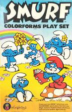 Peyo Smurf Colorforms Play Set #655 3 Pieces Missing Good Condition Vintage Fun!