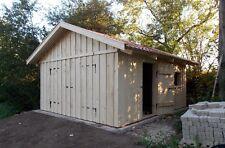 Holzgarage mit Satteldach Fertiggarage Geräteschuppen Gartenhaus 4m x 6m  Holz