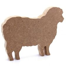 Free Standing 18mm MDF Sheep Craft Shape Various Sizes. Farm, Animal, Wool
