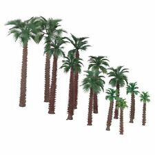 12 Model Palm Trees Railway Warhammer Scenery Wargame Plastic Tree HO Scale