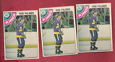 3 X 1978-79 OPC # 298 KINGS ROB PALMER  ROOKIE  CARD
