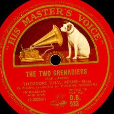THEODOR CHALIAPINE -RUSSIAN BASS- Schumann: The Two Grenadiers/ Midnight.. G3401