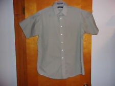 """ PURITAN"" MEN'S  DRESS OLIVE GREEN SHIRT..SIZE  16  SHORT SLEEVE"