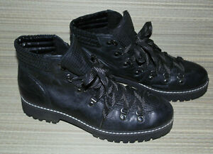 NEXT WOMENS BLACK LACE UP SYNTHETIC COMBAT ANKLE BOOTS SIZE:6.5/40 (WB3552)