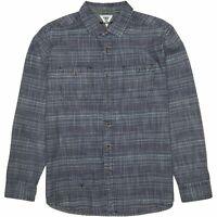 VISSLA - Lacerations Flannel Mens Shirt - Dark Naval - Small - Medium