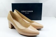 COLE HAAN Eliree Pump 55mm Nude Patent Leather Beige Size 8.5 B NEW $250 Retail