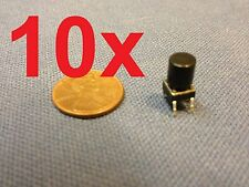 Black 10 pieces + plastic cap 6x6x7mm Tactile Push Button Switch 10pcs 10x c1