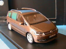 VW VOLKSWAGEN SHARAN II 2 2010 BROWN METAL MINICHAMPS 1/43 MONOSPACE VISIOSPACE