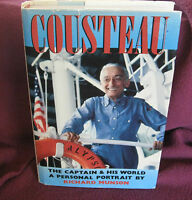 Cousteau: The Captain and His World by Richard Munson  1st HbDj 1989  TECHNIQUES