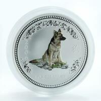 Australia 1 dollar Year of the Dog Lunar Series I 1 Oz Silver Coloured Coin 2006