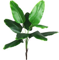 Artificial Plants Faux Banana Tree Tropical Monstera Leaf Tropical Turtle Large