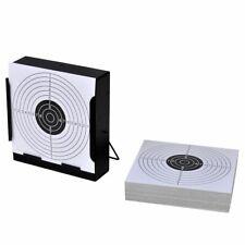 Schietkaart vierkant met kogelvanger + 100 papieren doelen schietschijf doel