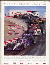 Laguna Seca Raceway Monterey Grand Prix Auto Race Program 10/1986-CART-Indy-VF