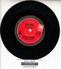 "JOE JACKSON  Real Men 7"" 45 rpm vinyl record + juke box title strip"