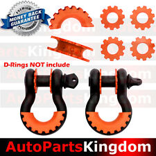 """New Orange Isolator Washers 1 Pair Set Silencer Clevis for 3/4"""" D-ring Shackles"""