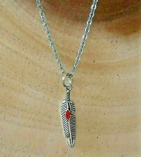 Small Feather Wing Spiritual Minimalist Charm Pendant Stainless Steel Necklace