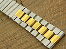 Stainless Steel Watch Band 18mm Expansion Vintage New Old Stock Unused 2 Toned