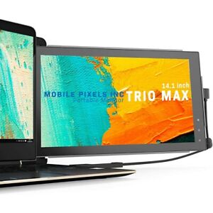 "Dual Monitor für Laptop IPS Mobile Pixels TRIO MAX 14"" mobil tragbar Bildschirm"