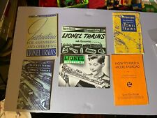 Lionel Instruction Booklets 1938 - 1950's Lot of 6