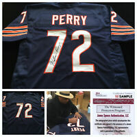 William Perry Autographed Blue Football Jersey JSA COA Chicago Bears Great