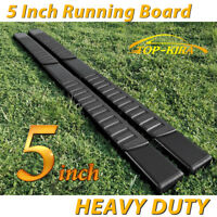 "For 09-14 FORD F150 Super Crew Cab 5"" Black Running Board Nerf Bar Side Step H"