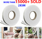 2 X 5M Weather Foam Tape Draught Excluder Seal Strip Insulation Window Door stop