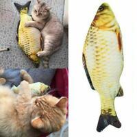Realistic Cat  Fish Catnip Mint Stuffed Pet Interactive Kicker Kitten Play Toys