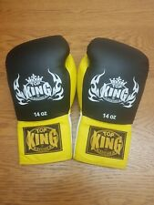 Top King Boxing Gloves 14oz Lace up Not Winning, Reyes, Grant or Rival