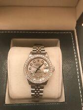 Rolex Datejust White Gold & Steel Silver Dial 69174 Jubilee Diamond Dial & Bezel