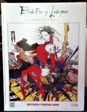 ELEKTRA Y LOBEZNO: LA REDENTORA de Greg Rucka y Yoshitaka Amano. Panini, 2005.