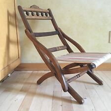Rare Antique Child's Eastlake Folding Wooden Chair