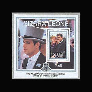 Sierra Leone, Sc #772, MNH, 1986, S/S, Royalty, Andrew, Sarah, AR5RDD-C