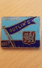 1967 BUTLINS PWLLHELI ENAMEL PIN BADGE