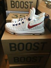 Nike Mens Zoom KD 9 Size 7.5 USA Kevin Durant White Basketball Shoes 843392 160